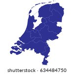 high detailed blue vector map   ... | Shutterstock .eps vector #634484750