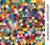 abstract geometric colorful... | Shutterstock . vector #634492169