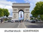 paris  france circa may 2015.... | Shutterstock . vector #634494404
