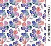 aloha hawaii  luau party... | Shutterstock .eps vector #634495694