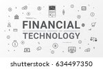 financial technology  fin tech... | Shutterstock .eps vector #634497350