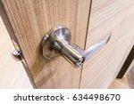 modern style door handle on...   Shutterstock . vector #634498670