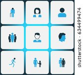 person colorful icons set.... | Shutterstock .eps vector #634499474