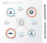 automobile icons set.... | Shutterstock .eps vector #634500290