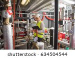 hvac engineer in boiler room