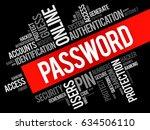 password word cloud collage ... | Shutterstock .eps vector #634506110
