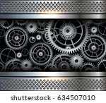 abstract background metallic... | Shutterstock .eps vector #634507010