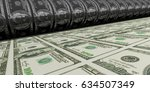 printing money. metal press.... | Shutterstock . vector #634507349