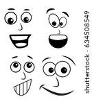 cartoon face vector symbol icon ... | Shutterstock .eps vector #634508549