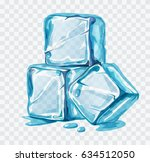 ice cubes vector illustration... | Shutterstock .eps vector #634512050