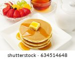 Pancakes With Fruits And Maple...