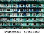 group of windows at facade... | Shutterstock . vector #634516550
