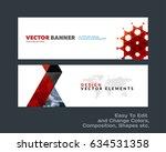 abstract vector set of modern... | Shutterstock .eps vector #634531358