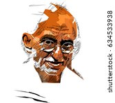 pop art of  mahatma gandhi ... | Shutterstock .eps vector #634533938