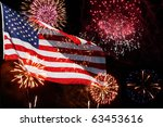 the american flag comes to life ... | Shutterstock . vector #63453616