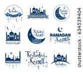 ramadan kareem muslim religion... | Shutterstock .eps vector #634539404
