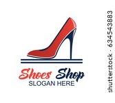 shoes store  shoes shop logo... | Shutterstock .eps vector #634543883