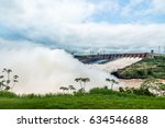 spillway of itaipu dam   brazil ... | Shutterstock . vector #634546688