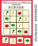 picture sudoku for kids ...   Shutterstock . vector #634548620