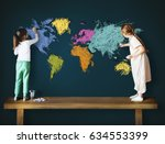 Children Education Learning Cartography Mapping - Fine Art prints