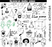vector set   doodles   science | Shutterstock .eps vector #63455464