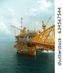 oil and gas production platform.... | Shutterstock . vector #634567544