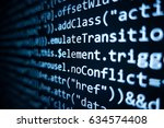 software source code.... | Shutterstock . vector #634574408