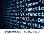 software source code.... | Shutterstock . vector #634574510