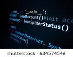 software source code.... | Shutterstock . vector #634574546