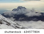 landscape on top of kilimanjaro ... | Shutterstock . vector #634577804