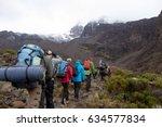 Track On Kilimanjaro On The...