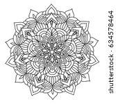 hand drawn monochrome oriental...   Shutterstock .eps vector #634578464