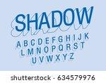 outline shadow typography ... | Shutterstock .eps vector #634579976