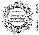 vintage delicate invitation... | Shutterstock . vector #634581008