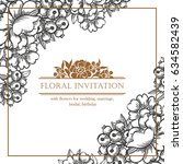 romantic invitation. wedding ... | Shutterstock . vector #634582439