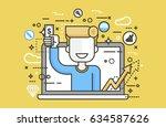 stock vector illustration man... | Shutterstock .eps vector #634587626