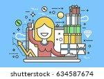 stock vector illustration woman ... | Shutterstock .eps vector #634587674