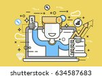 stock vector illustration man... | Shutterstock .eps vector #634587683