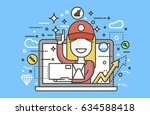 stock vector illustration... | Shutterstock .eps vector #634588418