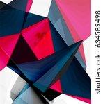 low poly geometric 3d shape... | Shutterstock .eps vector #634589498