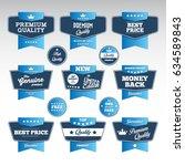 vintage label set | Shutterstock .eps vector #634589843