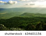 beautiful scenery mountain with ... | Shutterstock . vector #634601156