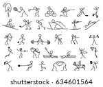 cartoon icons sport set of... | Shutterstock .eps vector #634601564