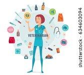 veterinarian round composition