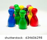 chinese checkers figures as a...   Shutterstock . vector #634606298