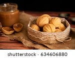 homemade cookies shaped nuts... | Shutterstock . vector #634606880