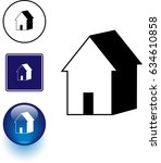 home symbol sign and button | Shutterstock .eps vector #634610858