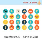 part of body concept flat icons....   Shutterstock .eps vector #634611980