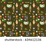 vector flat seamless texture... | Shutterstock .eps vector #634612136