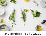 organic spa. natural herbal... | Shutterstock . vector #634612226